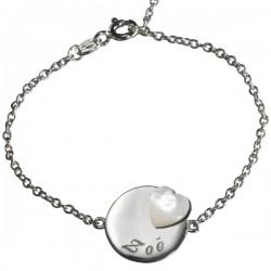 Bracelet Lovely Médaille Coeur - Argent