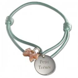 bracelet enfant noeud médaille gravée