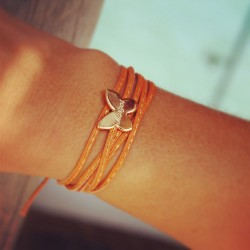 bracelet papillon personnalisé gravé