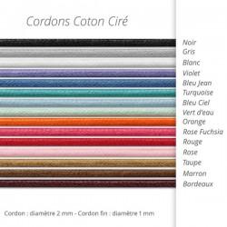 Cordons cotons bracelets à acheter