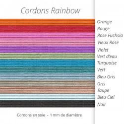 acheter cordon soie coloré