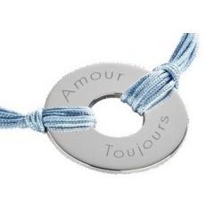 Bracelet médaille coloré personnalisé gravé