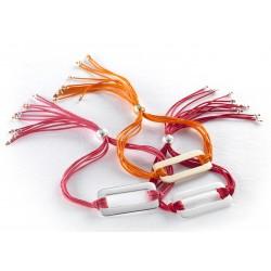 Bracelet coloré personnalisé gravé