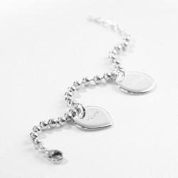 Bracelet chaine et médaille argent