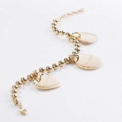 Bracelet chaine et médaille coeur personnalisé plaqué or