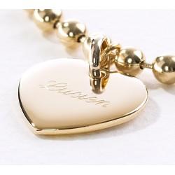 Bracelet chaine et médaille plaqué or
