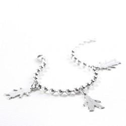 Bracelet chaine et chérubin argent