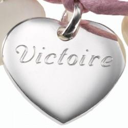 Bijoux Coeurs personnalisés - Argent et Nacre