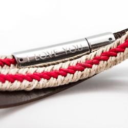 bracelet homme gravé cuir