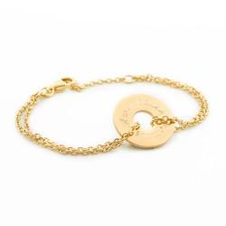 bracelet chaine gravé personnalisé plaqué or