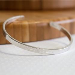 bracelet jonc argent personnalisé