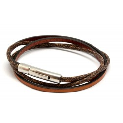bracelet cuir femme marron