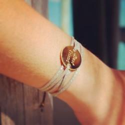 bracelet médaille prénom