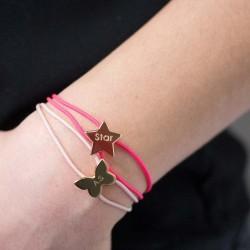 Bracelet Cordon Etoile