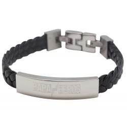 Bracelet Papa Héros - Acier
