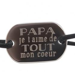 Braet Je t'aime Papa - Argent