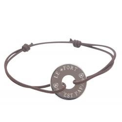 Bracelet Papa le plus fort - Argent
