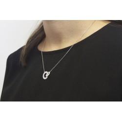 Collier anneaux enlacés - Argent