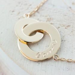 Collier anneaux enlancés - Plaqué or