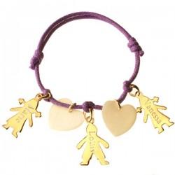 Bracelet Mamans Chérubins - Plaqué Or et Nacre