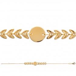 Bracelets chaine épis Plaqué or