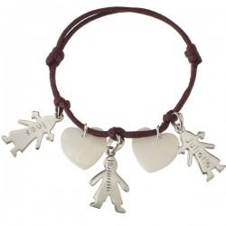 Bracelet Mamans Chérubins - Argent et Nacre