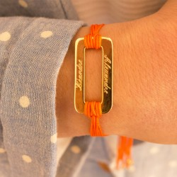 Bracelet Rainbow Rectangle - Plaqué or