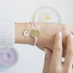 Bracelet anneaux enlacés - Plaqué or