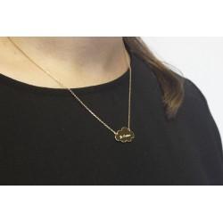 Collier chaine nuage - Plaqué or