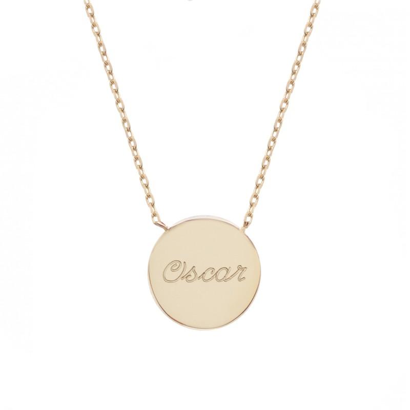 Collier médaille - Plaqué or