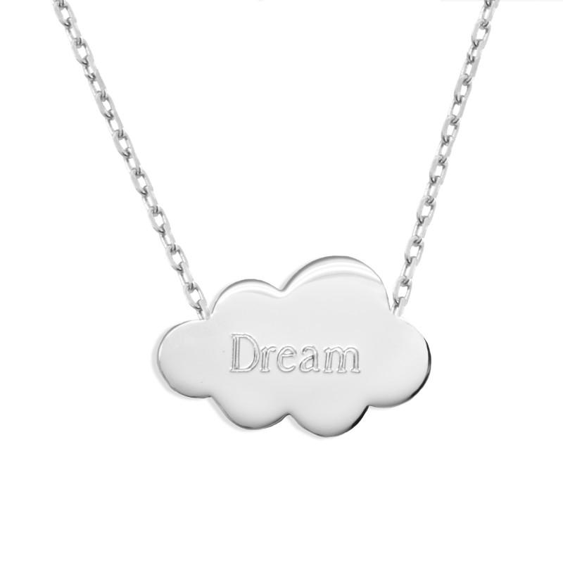 Collier chaine nuage - Argent