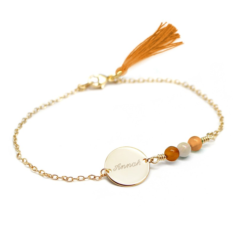 Bracelet Bahia Orange - Plaqué or