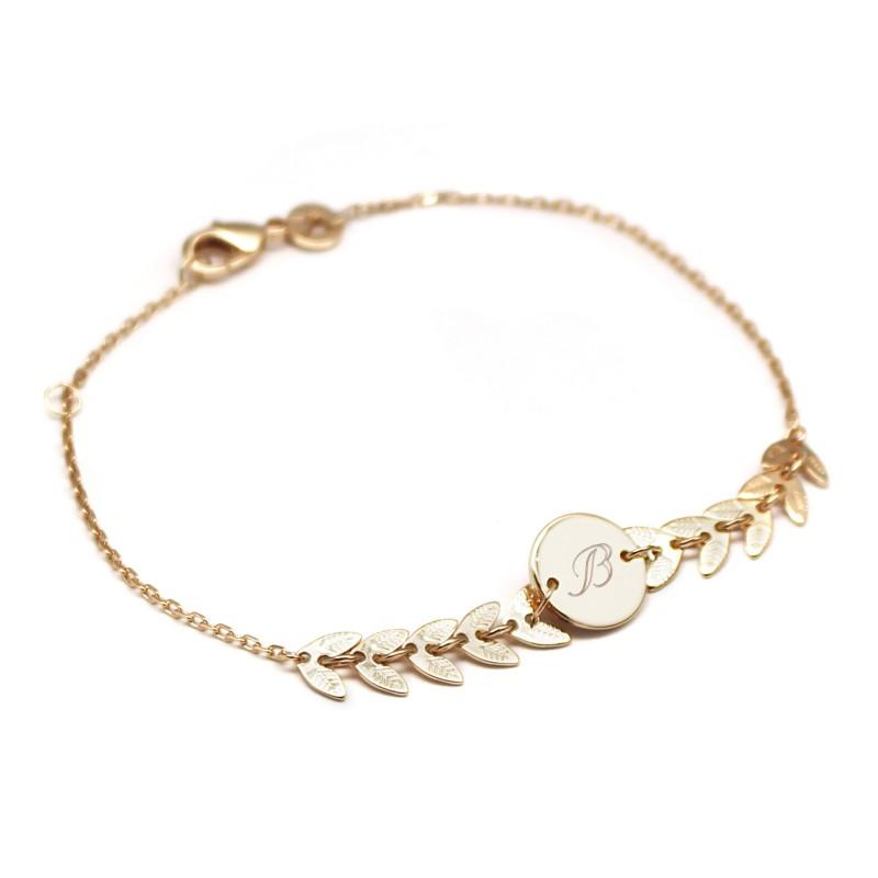 Bracelet chaine épis - Plaqué or