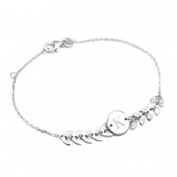 Bracelet chaine épis - Argent