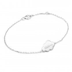 Bracelets chaine nuage - Argent