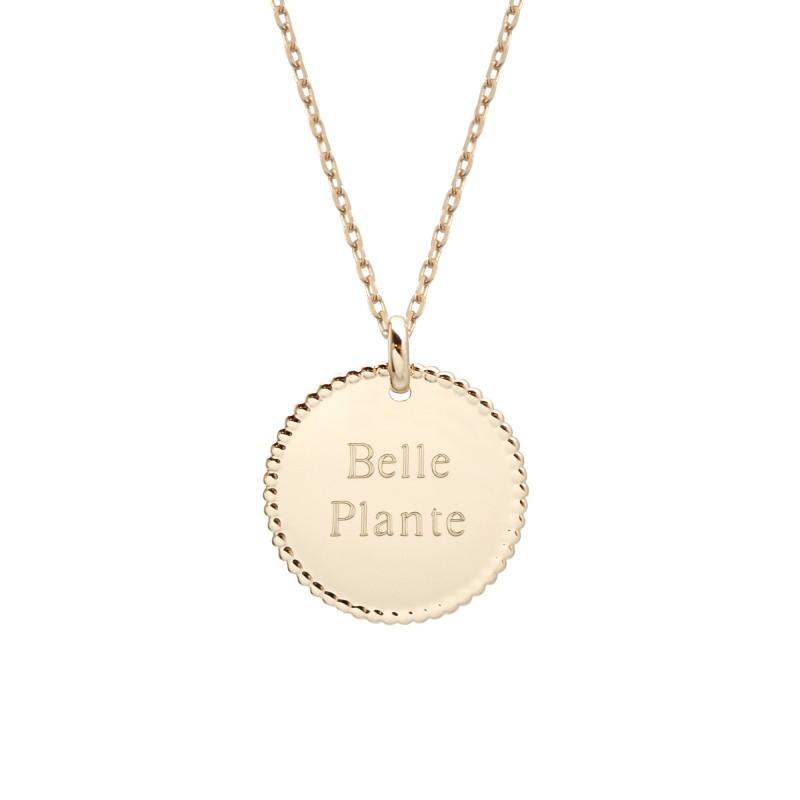 Collier Médaille perlée - Plaqué or