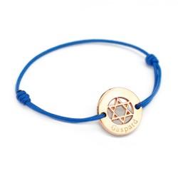 Bracelet Etoile de David - Plaqué or