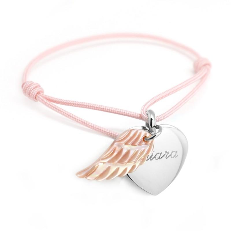 Bracelet Coeur aile d'Ange - Argent