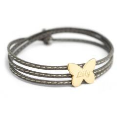 Bracelet Amazone Papillon - Plaqué or
