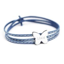 Bracelet Amazone Papillon - Argent