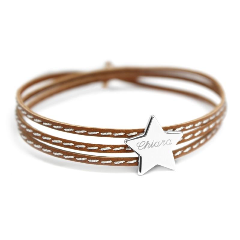 Bracelet Amazone Star - Argent