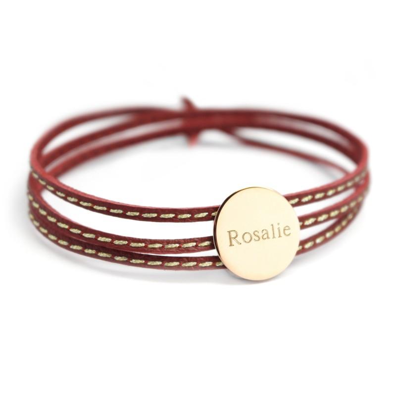 Bracelet Amazone Médaille - Plaqué or