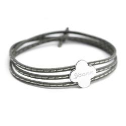 Bracelet Amazone Trèfle - Argent