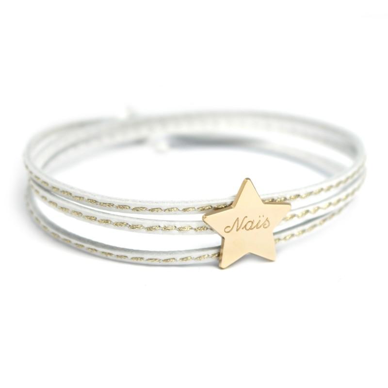Bracelet Amazone Star - Plaqué or