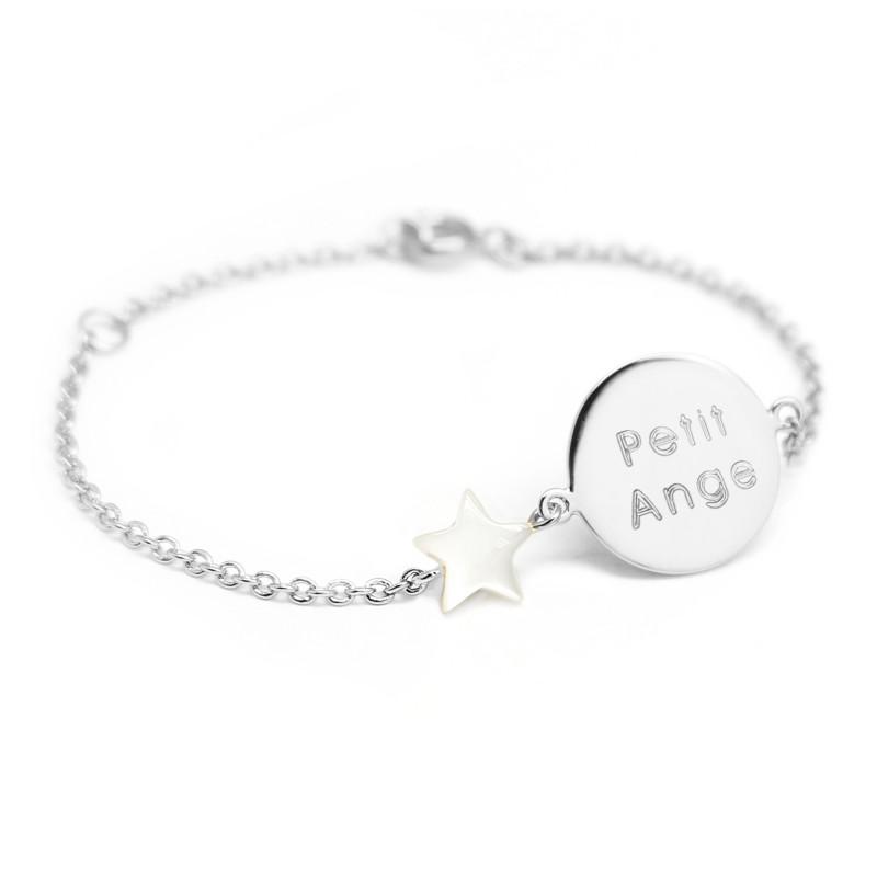 Bracelet Lovely Nacre Star - Argent