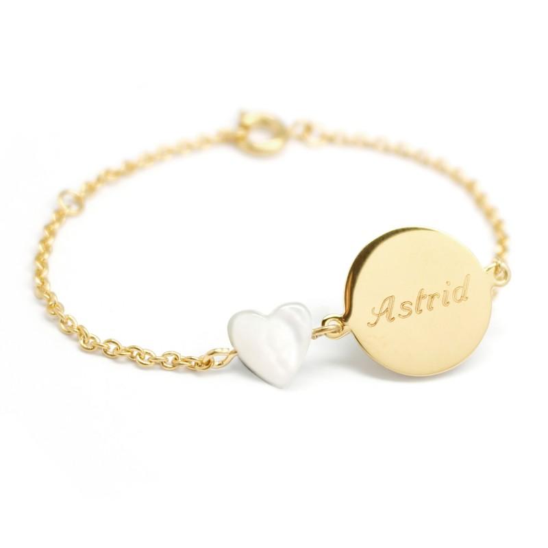 Bracelet Lovely Nacre Coeur - Plaqué or