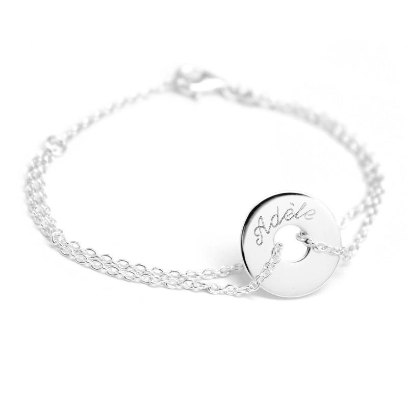 bracelet argent a graver