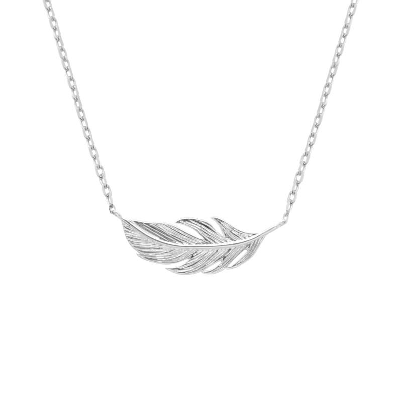 collier femme feuilles
