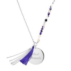 Sautoir Bahia Violet - Argent