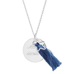 Sautoir Boréal Bleu - Argent
